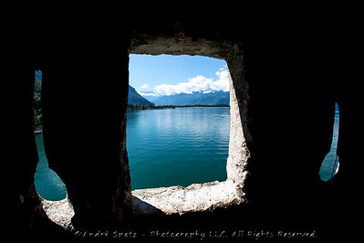 Lac Leman (Geneva Lake) seen from the Chillon Castle