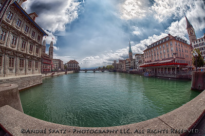Zuerich Cityscape and the Limmat River