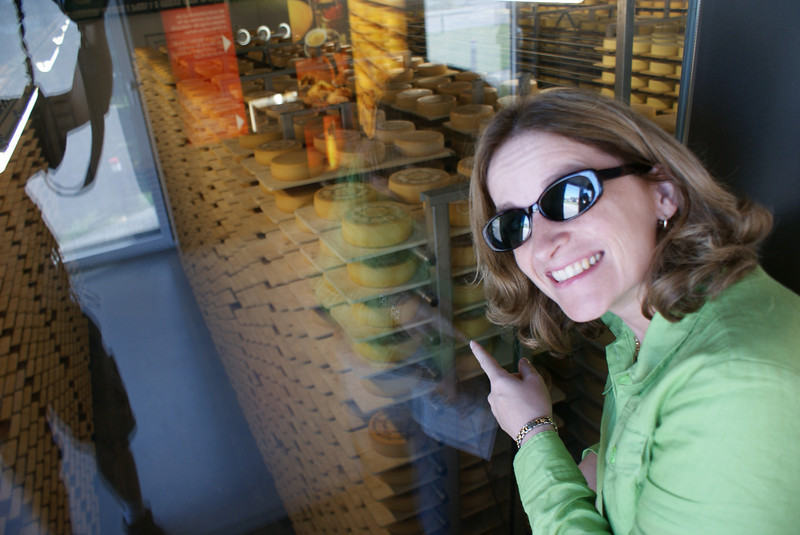 We visited the Appenzell Cheese Museum.  We counted blocks of cheese - there were 12,000 aging here.