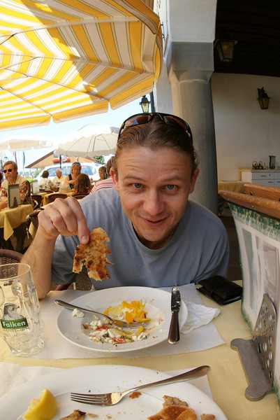 Lunch in Stein am Rhein.