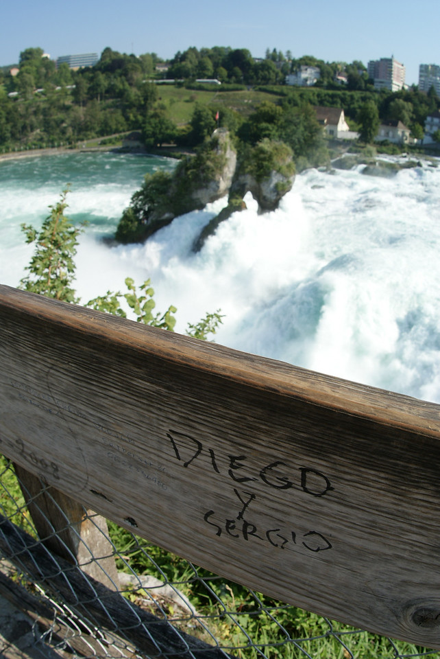 Touching.  Diego and Sergio engraved their names there at the falls.  Best of luck, guys…