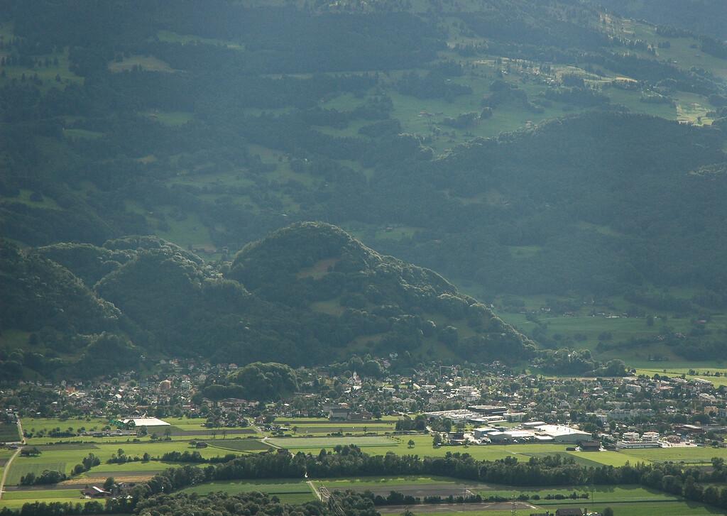 a view of Switzerland from Liechtenstein
