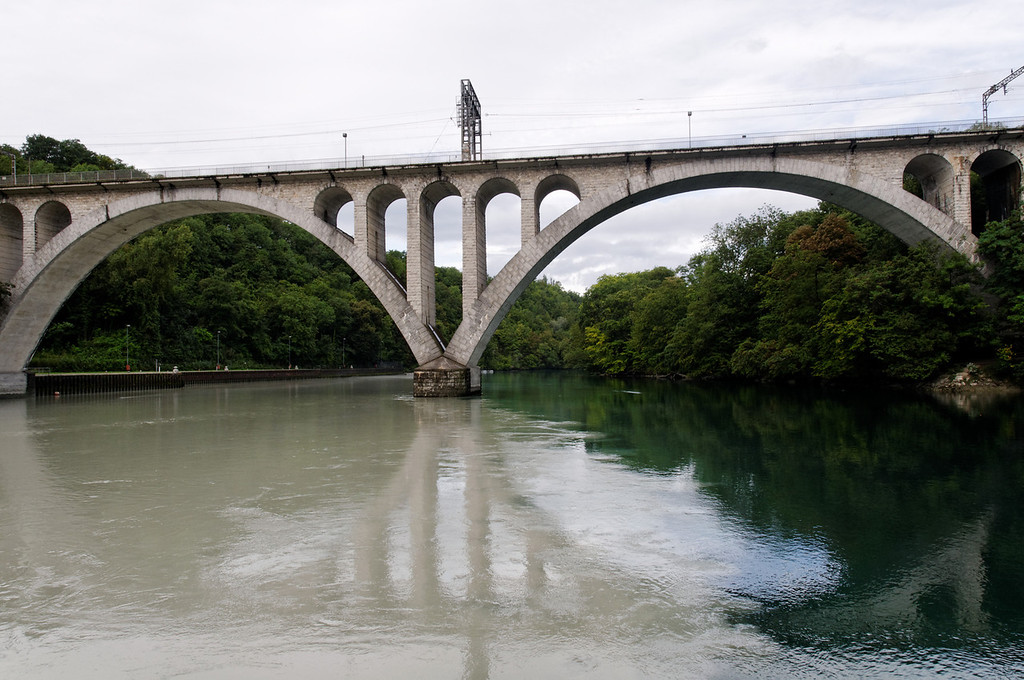 Jonction de l'Arve et du Rhône