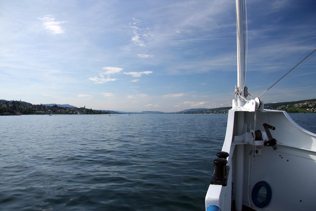 Heading north, towards Zurich.