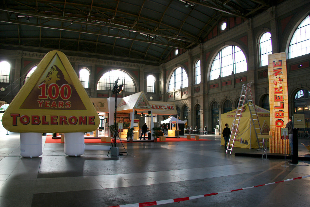 Back in Zurich, some kind of Toblerone festival at the main train station. Mmmm Toblerone.