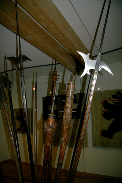 Weapons inside the museum. Cool.