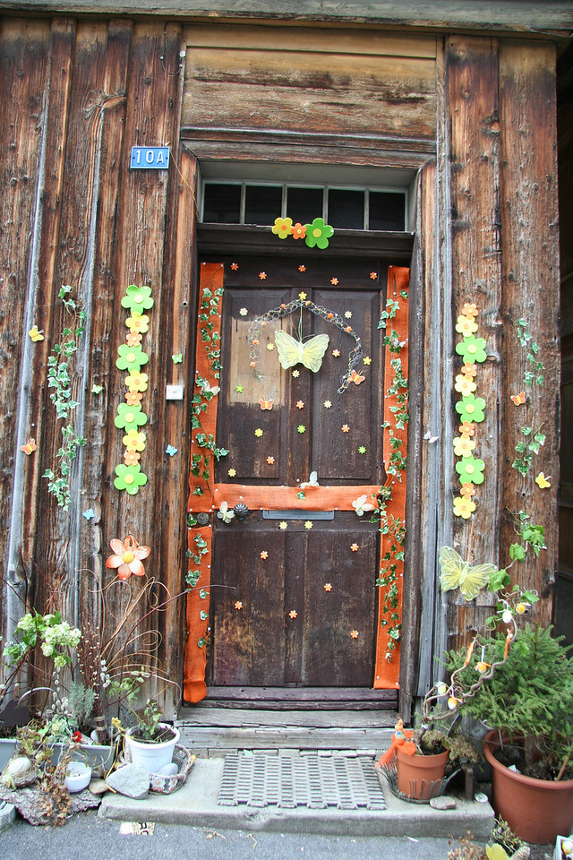 Front door to a business.