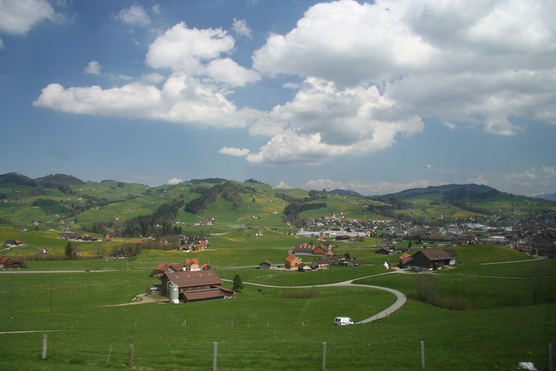 This really is the view from the train on the ride from Flawil up the mountain to Appenzell.