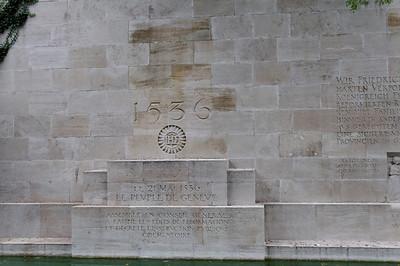Le mur des Réformateurs Parc des Bastions, Genève, Suíça