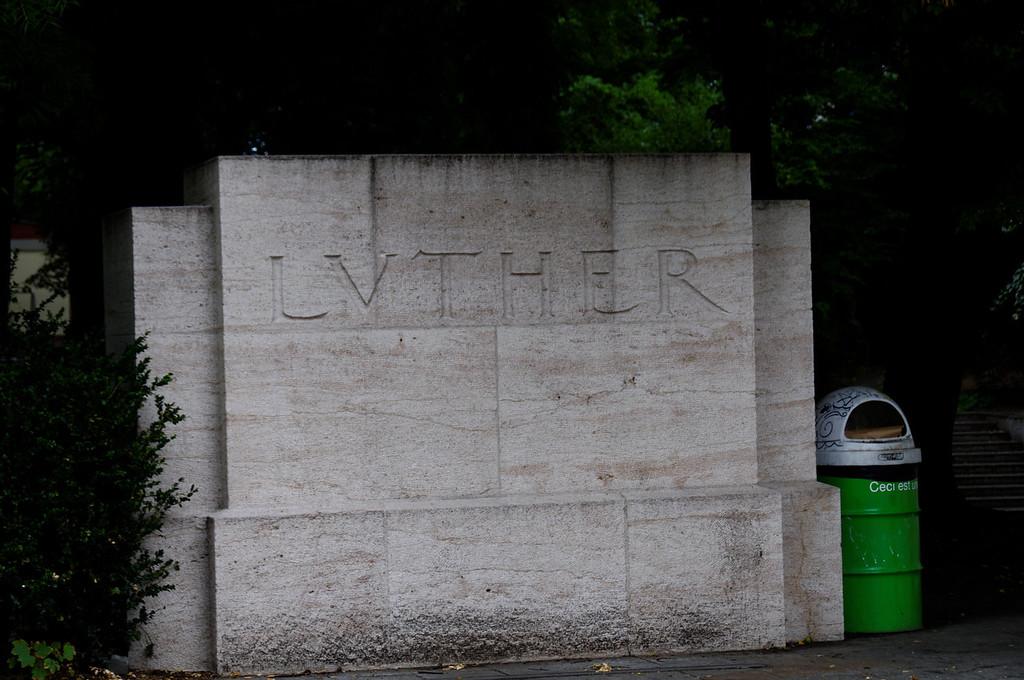 Le mur des Réformateurs<br /> Parc des Bastions, Genève, Suíça