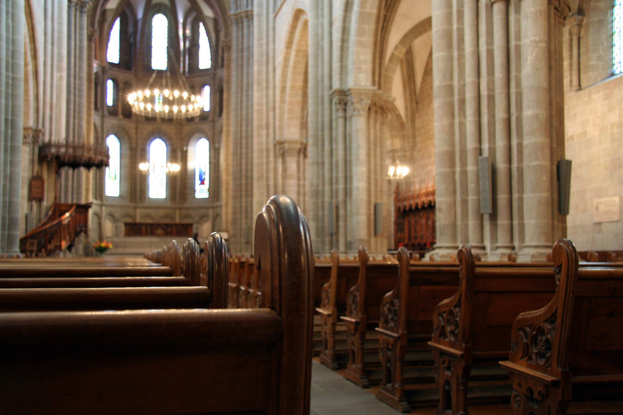 View from the pews in St. Pierre Cathedral.