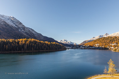Golden late autumn in St. Moritz