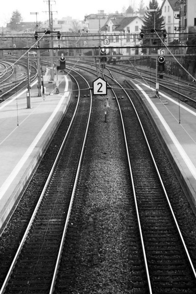Thalwil train station in black and white. Yeah... this one is going up on the wall.