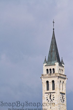 Clock Tower in Romanshorn, Switzerland