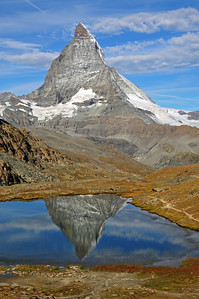 Matterhorn and its reflection in the Riffelsee