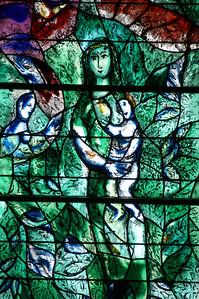 famous Chagall windows in Fraumünster Zürich