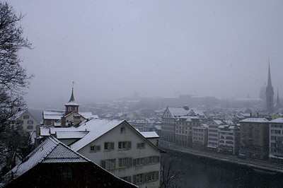 Snow in Zürich