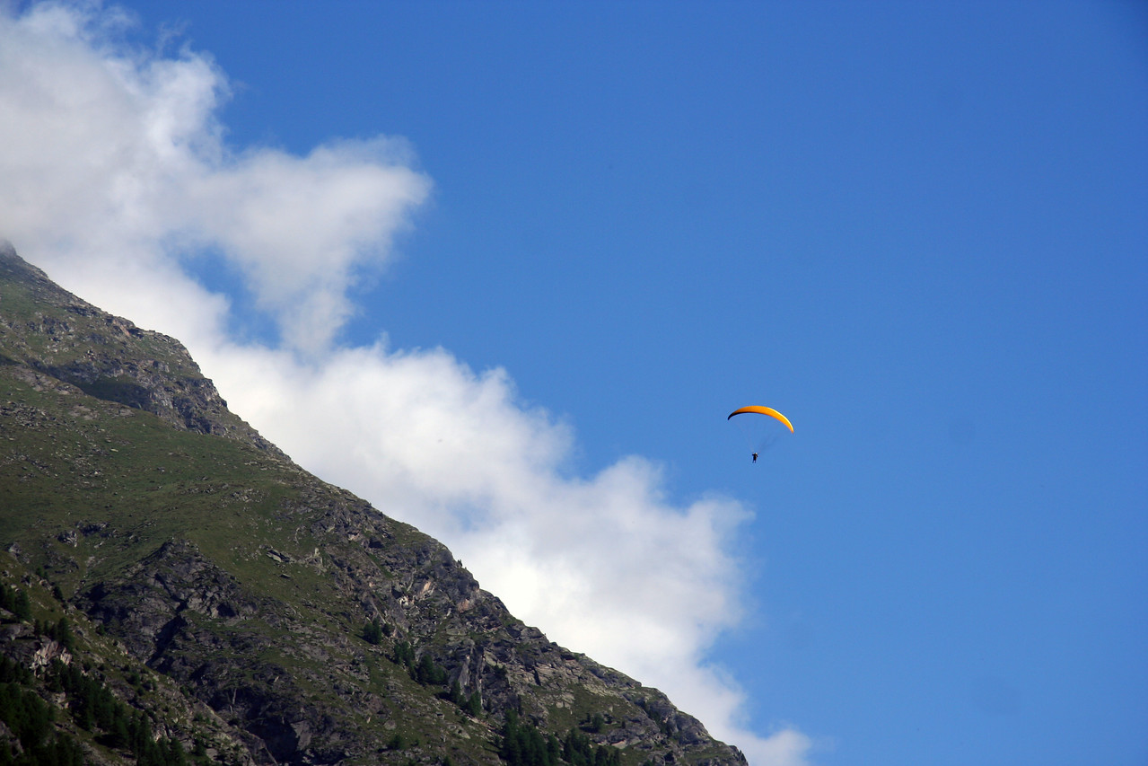Paragliding in the Alps.