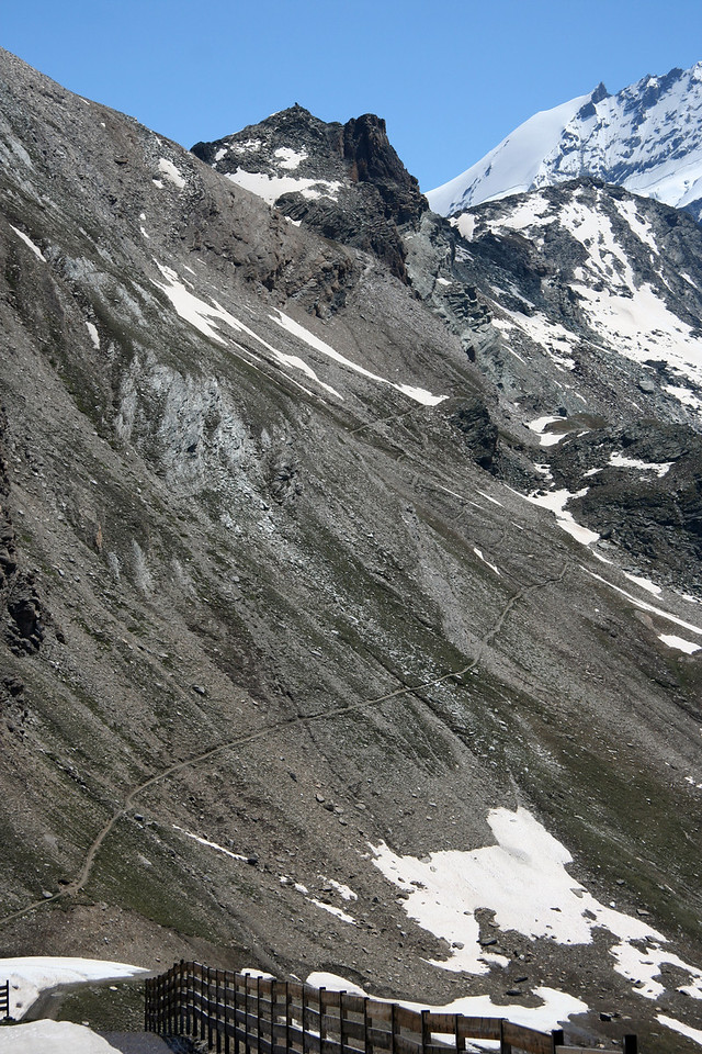Close up of where the trail starts to get up Oberrothorn.