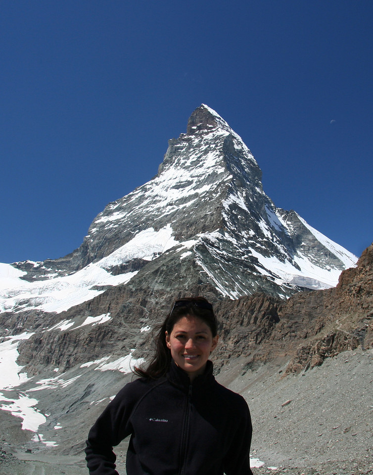 Finally, at the base close to where people start to climb the mountain. The Matterhorn is 4,478m (14,692 ft) high.