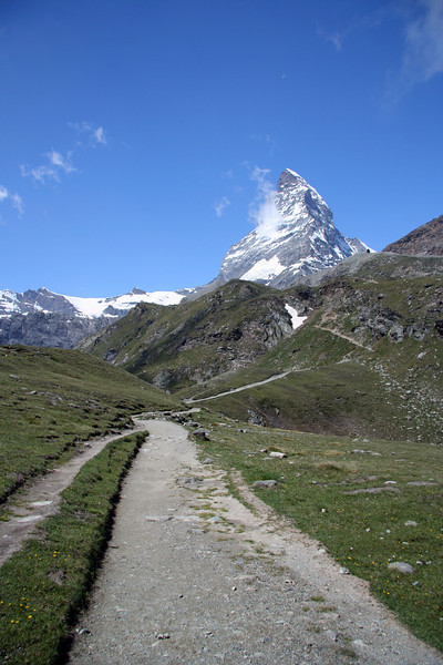 On the Matterhorn Glacier Trail before the long hike up.