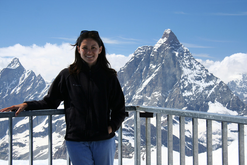 On top of Klein Matterhorn, with the big Matterhorn in the background.