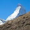 Hiker and Matterhorn