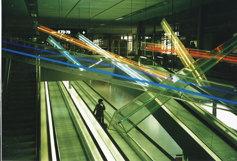 Inside the Zurich airport