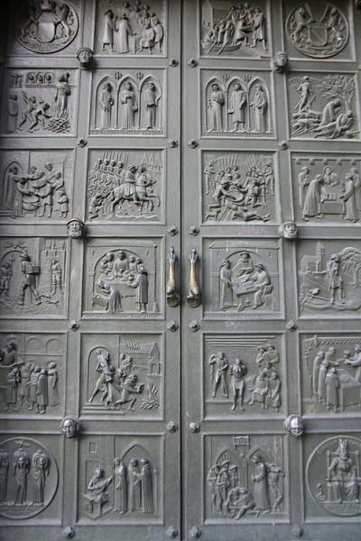 Doors to Grossmünster.