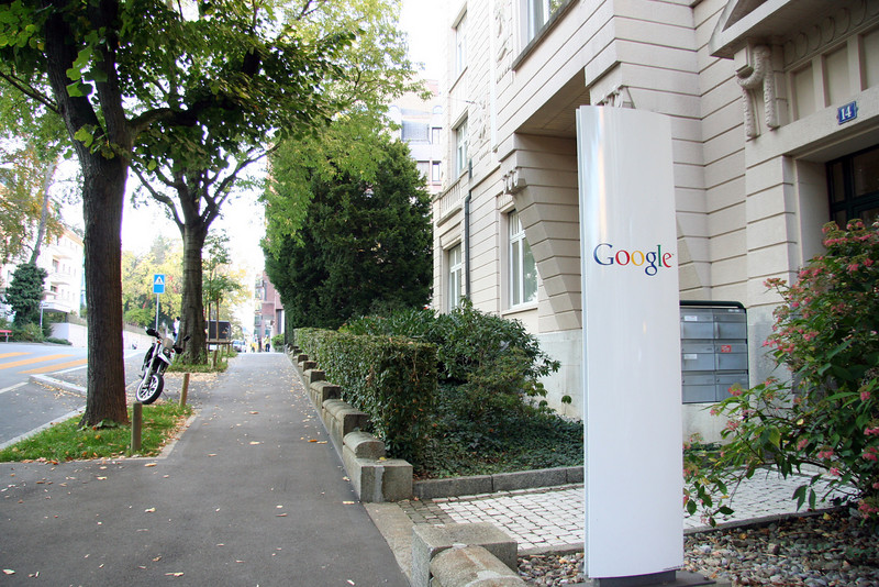 Google's current office on Freigutstrasse.
