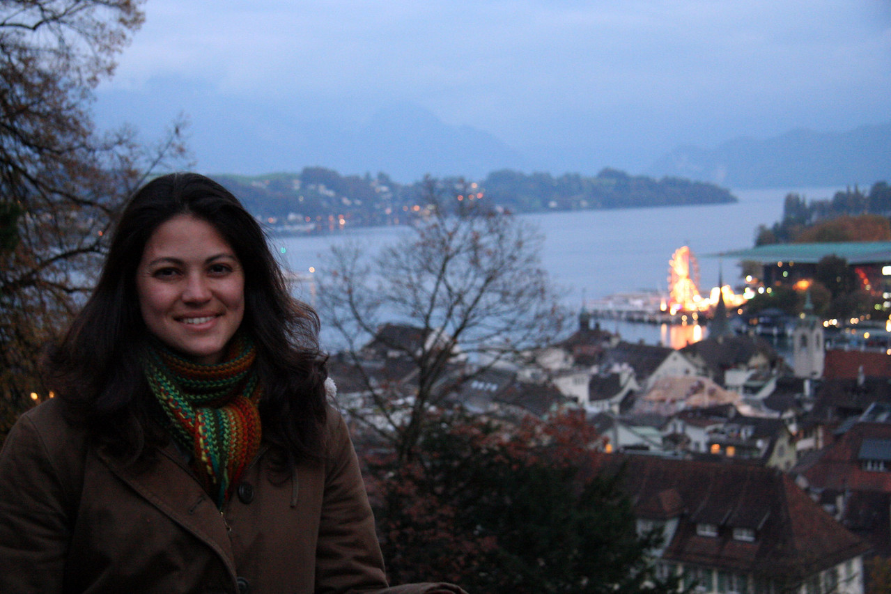 Me on the city wall in Lucerne.