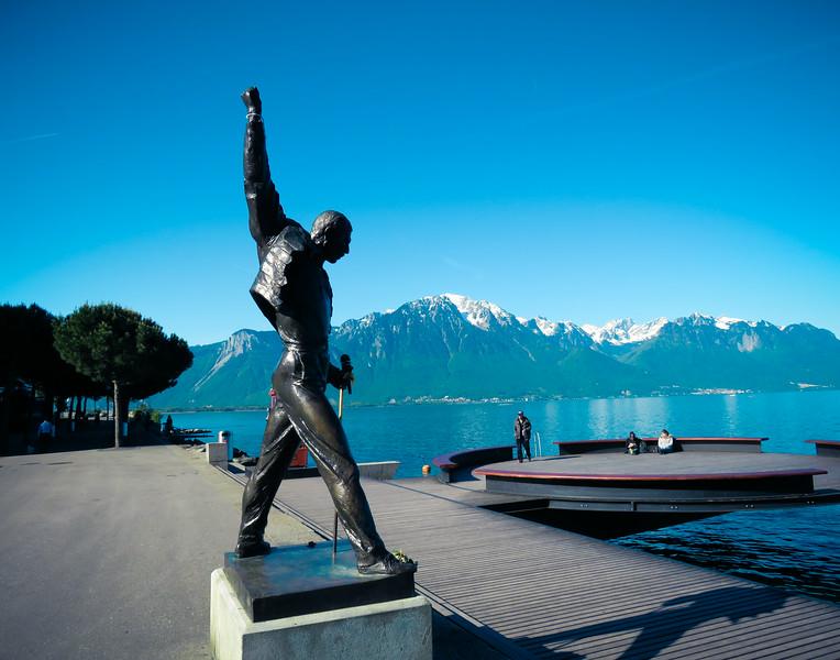 Freddie Mercury in Montreaux