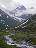 Melting snow forms rivers cascading down the passes - Switzerland