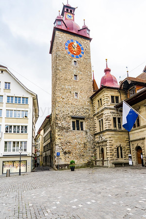 Lucerne town hall clock tower