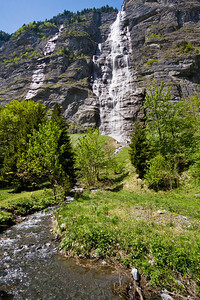 Mürrenbach Falls Stechelberg, Switzerland