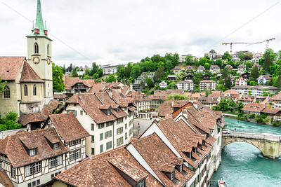Old town Bern by the river