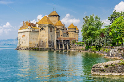 Château de Chillon on Lake Geneva in Montreaux