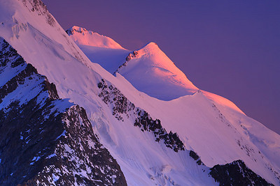 Aletschhorn at sunset