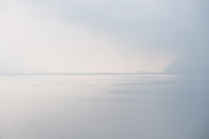 A view of France from Switzerland across the lake at Vevey.
