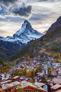 Zermatt and Matterhorn.