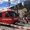 Train crossing, Chamonix