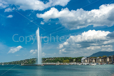 The fountain in Lake Geneva