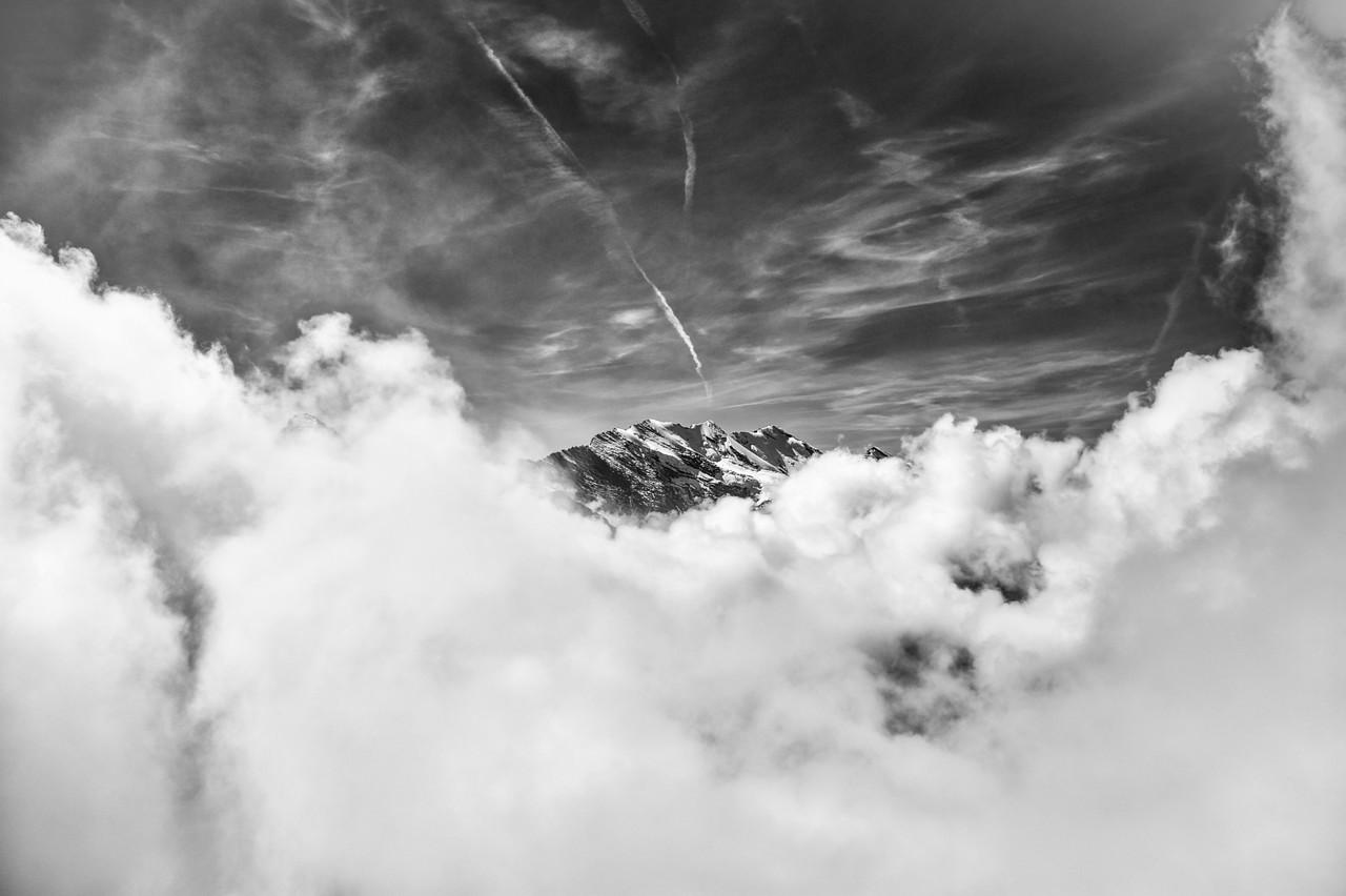 View from Jungfrau in Switzerland.