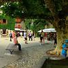 Medieval courtyard