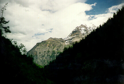 Berner Oberland, Switzerland June 1997.  Hiking above Gimmelwald.  Photos from my backpacking trip around West Europe.