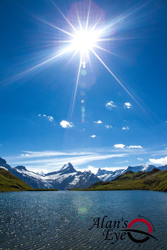 Lake Bachalpsee above Grindelwald, Switzerland