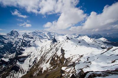 View of the Swiss Alps Schilthorn summit Switzerland