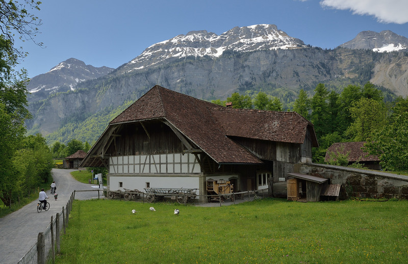 At Ballenberg open-air museum near Brienz.<br /> Homes and farm buildings typical of the various regions of Switzerland have been moved to the site.