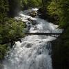 Giessbach Falls entering Lake Brienz.