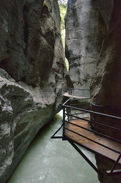 """Aareschlucht - Aare Gorges cut by the Aare River through the Kirchet """"bolt"""" near Meiringen.<br /> Wednesday, May 16, 2012"""
